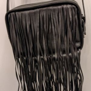 & Other Stories Leather Fringe Purse